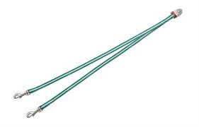 Flexi - Ремень-сворка для двух маленьких собак, размер S (бирюзовая) Vario Duo Belt turquoise