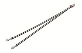 Flexi - Ремень-сворка для двух маленьких собак, размер S (серая) Vario Duo Belt antracite