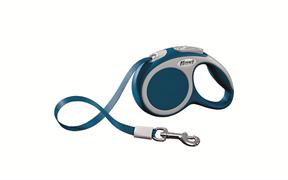 Flexi - Рулетка-ремень для собак, размер XS - 3 м до 12 кг (голубая) Vario tape blue