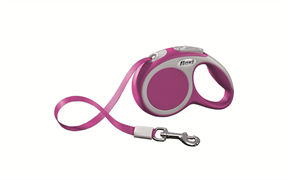 Flexi - Рулетка-ремень для собак, размер XS - 3 м до 12 кг (розовая) Vario tape pink