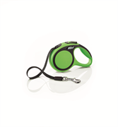 Flexi - Рулетка-ремень для собак, размер XS - 3 м до 12 кг (зеленая) New Comfort Tape green