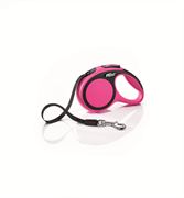 Flexi - Рулетка-ремень для собак, размер XS - 3 м до 12 кг (розовая) New Comfort Tape pink
