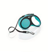 Flexi - Рулетка-ремень для собак, размер S - 5 м до 15 кг (голубая) New Comfort Tape blue