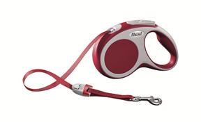 Flexi - Рулетка-ремень для собак, размер S - 5 м до 15 кг (красная) Vario tape red