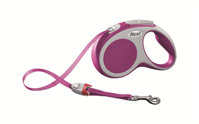 Flexi - Рулетка-ремень для собак, размер S - 5 м до 15 кг (розовая) Vario tape pink