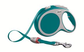 Flexi - Рулетка-ремень для собак, размер L - 8 м до 50 кг (бирюзовая) Vario tape turquoise