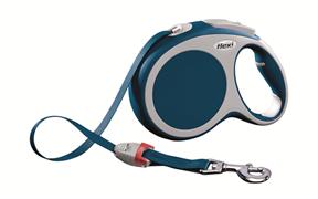 Flexi - Рулетка-ремень для собак, размер L - 8 м до 50 кг (голубая) Vario tape blue