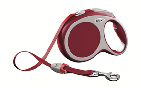 Flexi - Рулетка-ремень для собак, размер L - 8 м до 50 кг (красная) Vario tape red