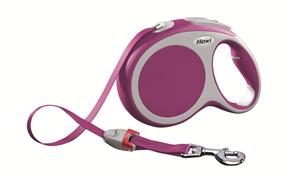 Flexi - Рулетка-ремень для собак, размер L - 8 м до 50 кг (розовая) Vario tape pink