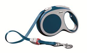 Flexi - Рулетка-ремень для собак, размер L - 5 м до 60 кг (голубая) Vario tape blue