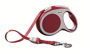 Flexi - Рулетка-ремень для собак, размер L - 5 м до 60 кг (красная) Vario tape red