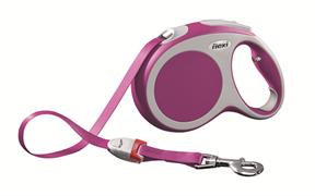 Flexi - Рулетка-ремень для собак, размер L - 5 м до 60 кг (розовая) Vario tape pink