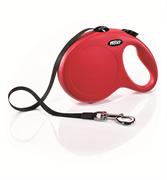 Flexi - Рулетка-ремень для собак, размер L - 8 м до 50 кг (красная) New Classic Tape red