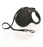 Flexi - Рулетка-ремень для собак, размер L - 8 м до 50 кг (черная) New Classic Tape black