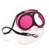 Flexi - Рулетка-ремень для собак, размер L - 5 м до 60 кг (розовая) New Comfort Tape pink