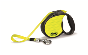 Flexi - Рулетка-ремень светоотражающая для собак, размер L (5 м до 50 кг) Neon Reflect tape