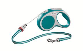 Flexi - Рулетка-трос для собак, размер S - 5 м до 12 кг (бирюзовая) Vario cord turqouise