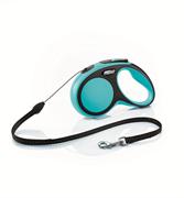 Flexi - Рулетка-трос для собак, размер S - 5 м до 12 кг (голубая) New Comfort Cord blue