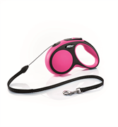Flexi - Рулетка-трос для собак, размер S - 5 м до 12 кг (розовая) New Comfort Cord pink