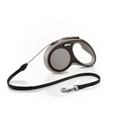 Flexi - Рулетка-трос для собак, размер S - 5 м до 12 кг (серая) New Comfort Cord grey
