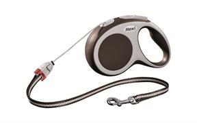 Flexi - Рулетка-трос для собак, размер S - 8 м до 12 кг (коричневая) Vario cord brown