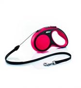 Flexi - Рулетка-трос для собак, размер S - 8 м до 12 кг (красная) New Comfort Cord red