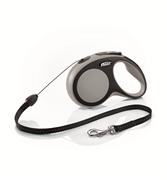 Flexi - Рулетка-трос для собак, размер S - 8 м до 12 кг (серая) New Comfort Cord grey