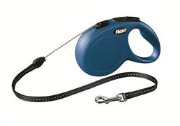 Flexi - Рулетка-трос для собак, размер S - 8 м до 12 кг (голубая) New Classic cord blue