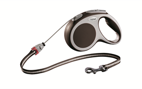 Flexi - Рулетка-трос для собак, размер M - 5 м до 20 кг (коричневая) Vario cord brown