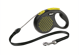 Flexi - Рулетка-трос для собак, размер M - 5 м до 20 кг (желтая) Design Cord yellow