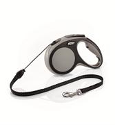 Flexi - Рулетка-трос для собак, размер M - 5 м до 20 кг (серая) New Comfort Cord grey
