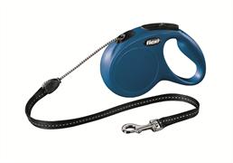 Flexi - Рулетка-трос для собак, размер M - 5 м до 20 кг (голубая) New Classic cord blue
