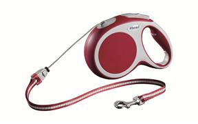 Flexi - Рулетка-трос для собак, размер M - 8 м до 20 кг (красная) Vario cord red