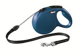 Flexi - Рулетка-трос для собак, размер M - 8 м до 20 кг (голубая) New Classic cord blue
