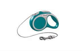 Flexi - Рулетка-трос для собак, размер XS - 3 м до 8 кг (бирюзовая) Vario cord turquoise