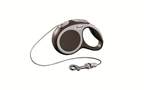 Flexi - Рулетка-трос для собак, размер XS - 3 м до 8 кг (коричневая) Vario cord brown