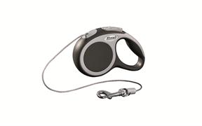 Flexi - Рулетка-трос для собак, размер XS - 3 м до 8 кг (серая) Vario cord anthracite