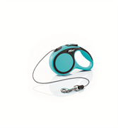 Flexi - Рулетка-трос для собак, размер XS - 3 м до 8 кг (голубая) New Comfort Cord blue