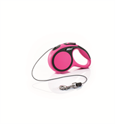 Flexi - Рулетка-трос для собак, размер XS - 3 м до 8 кг (розовая) New Comfort Cord pink