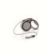 Flexi - Рулетка-трос для собак, размер XS - 3 м до 8 кг (серая) New Comfort Cord grey