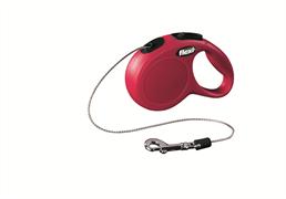 Flexi - Рулетка-трос для собак, размер XS - 3 м до 8 кг (красная) New Classic cord red