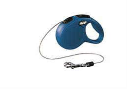 Flexi - Рулетка-трос для собак, размер XS - 3 м до 8 кг (синяя) New Classic cord blue