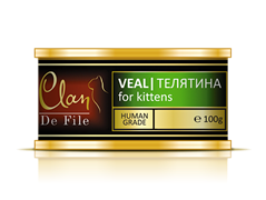 Clan De File - Консервы для котят (телятина) № 75