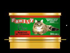 Clan  Family - Консервы для кошек (паштет из говядины) №20