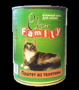 Clan Family - Консервы для кошек (паштет из телятины) №29