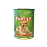 Clan Family - Консервы для собак (паштет из телятины) №46