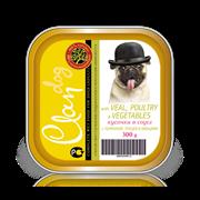 Clan - Консервы для собак (кусочки в соусе с телятиной, птицей и овощами)