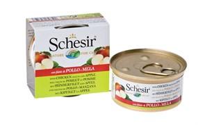 Schesir - Консервы для кошек (цыплёнок с яблоком)