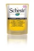 Schesir - Паучи для кошек (тунец с цыплёнком)