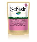 Schesir - Паучи для кошек (куриное филе с ветчиной)
